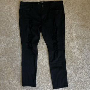 Worn 2 Times Mid Rise Distressed Leggings